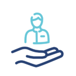 Icon to represent the personal care offered by insurance brokers