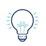 Icon of a lightbulb to represent smart home upgrades