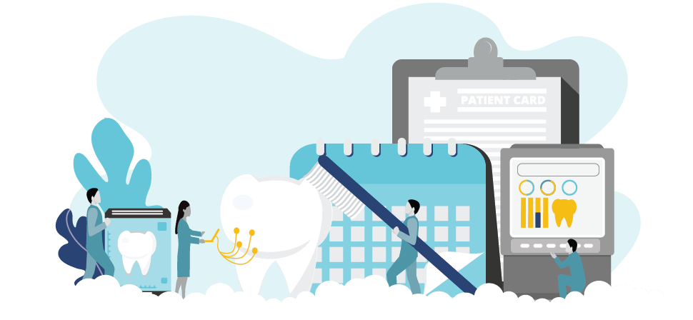 Graphic to represent professional insurance for dental hygienists