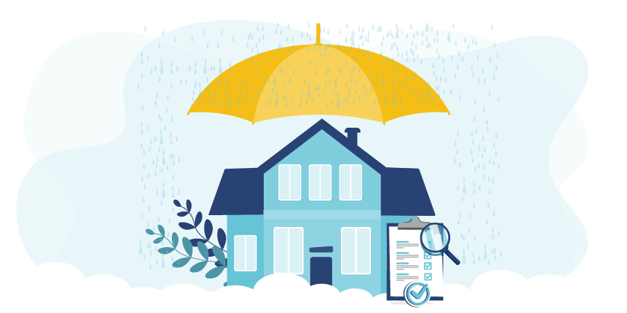 Graphic of a home protected from damage by PROLINK's Insurance partners