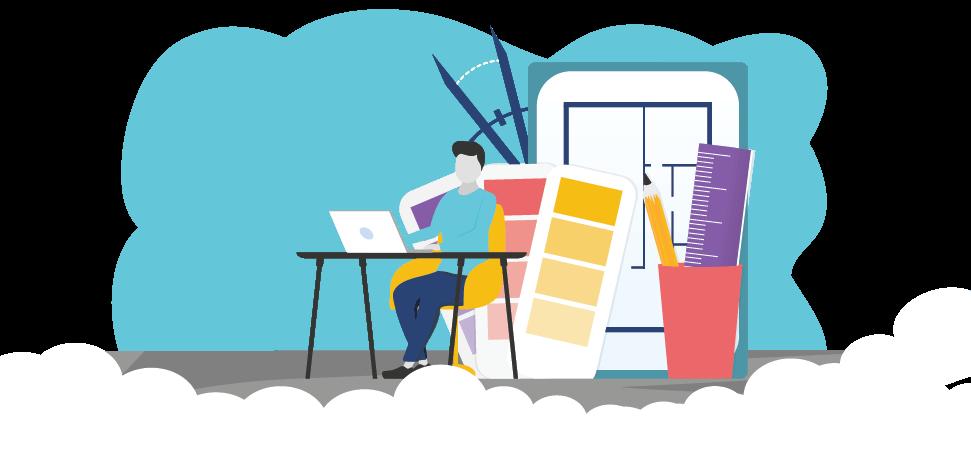 Graphic to represent Professional Insurance Program for Interior Designers, Decorators