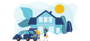 Graphic to represent PROLINK's home, auto, life, health insurance program for association members.