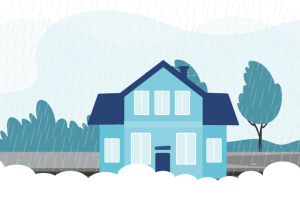 Graphic representing a storm proofed home